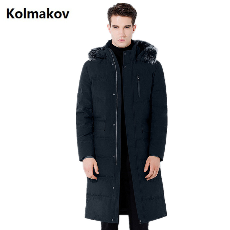 2017 new Men's casual long winter jackets thick white duck down hooded jacket men ,winter men's white duck down coat men ynzzu 2017 new womens winter jackets 90% white duck down coat long sleeve thick warm women winter coat hooded double face o082