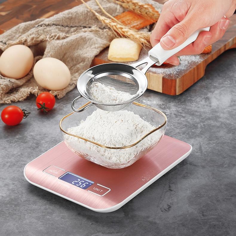 Balance de Cuisine électrique plate-forme avec affichage LCD Cuisine alimentaire Balance postale Balance outils de cuisson