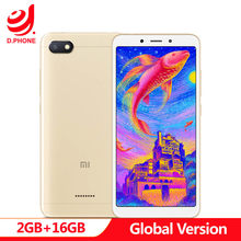 "Global Version Xiaomi Redmi 6A 2GB 16GB 5.45"" 18:9 Full Screen MTK Helio A22 Quad Core 13MP Camera 3000mAh Cellphone(Hong Kong,China)"