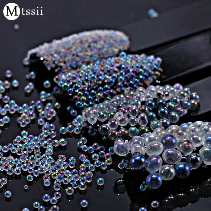 BlingBling Nail Glitter AB Crystal Glass Nail Art Caviar Beads 3D Pixie Mermaid Nail Tips Manicure Decoration 10g box clear nail caviar micro beads 3d glitter mini beans tiny tips decorations diy nail art rhinestones manicure accessories