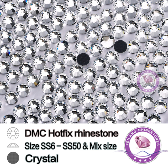 DMC SS6-SS50 Mix Sizes Crystal Clear Losse Strass Correction Transparent  Crafts DIY Clothes Glass Hotfix Rhinestones 0c6f8ed1609a