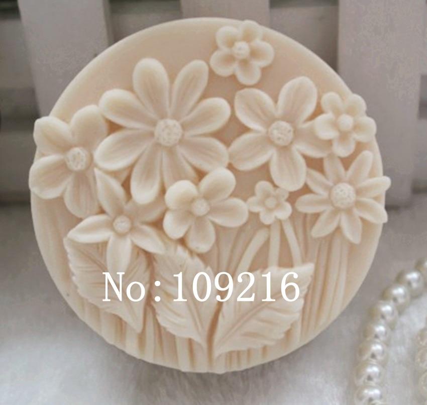 도매 !!! 1 개 작은 많은 꽃 (zx73) 실리콘 수제 비누 금형 공예 DIY 금형