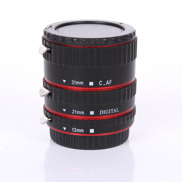 Red Metal Auto Focus Macro Automatic Extension Tube for Kenko Canon EF-S Lens100D 60D 70D 550D 600D 6D 7D T5i T4i
