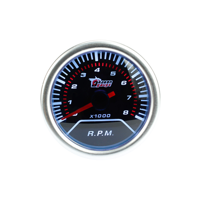 "free shipping!! tachometer car gauge/car meter 2"" rpm Gauge Smoke Lens ,Retail sale,Super Bright Led lighting/tachometer"