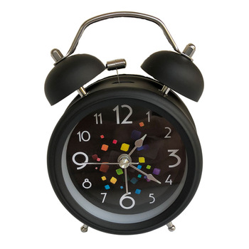 Hot sale! Retro silent pointer clock dual bell loud alarm clocks night light home decors bedroom alarm clock DL-bell-alarm-clock