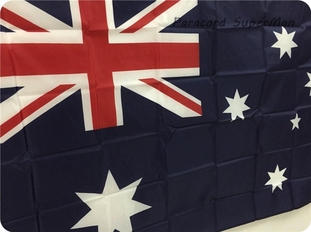 Avstraliya bayrağı Banner 3ft x 5ft Asma Bayraq Polyester - Komanda idman növləri - Fotoqrafiya 3