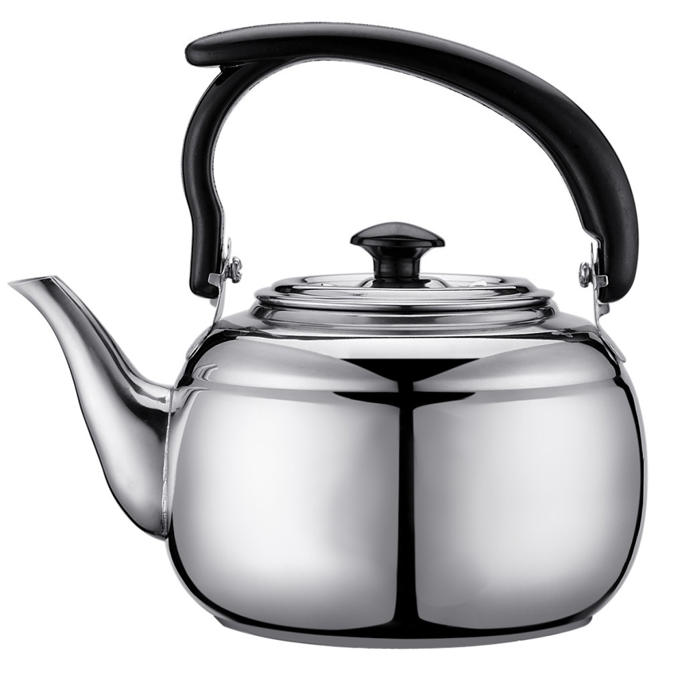 1L Stainless Steel Kitchen Furnace Stove Whistle Teapot Tools Spirit Cooker Water Kettle Tea Coffee Induction Camping Kettles