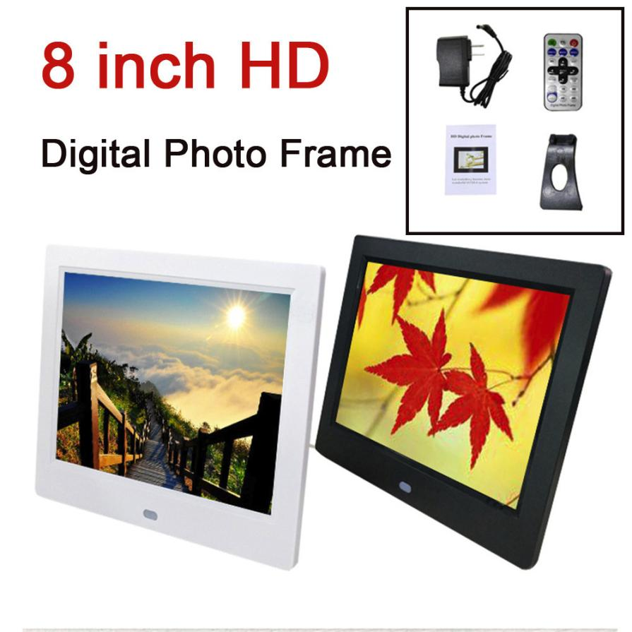 8-Inch Front Touch Screen Button High-Definition Screen Digital Photo Frame Multimedia Player With Human Body Induction Function 10 inch ultra thin digital photo frame