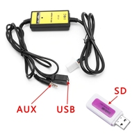 Professionele Auto Auto USB Aux-in Kabel Adapter Mp3-speler Radio Interface voor Toyota Camry/Corolla/Matrix 2 * 6Pin Audio AUX Kabel