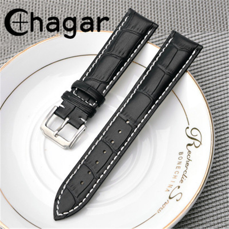 New belt 18mm 19mm 20mm 21mm 22mm 24mm Soft Sweatband Leather Strap High quality Steel Buckle Wrist accessories WatchBand стоимость