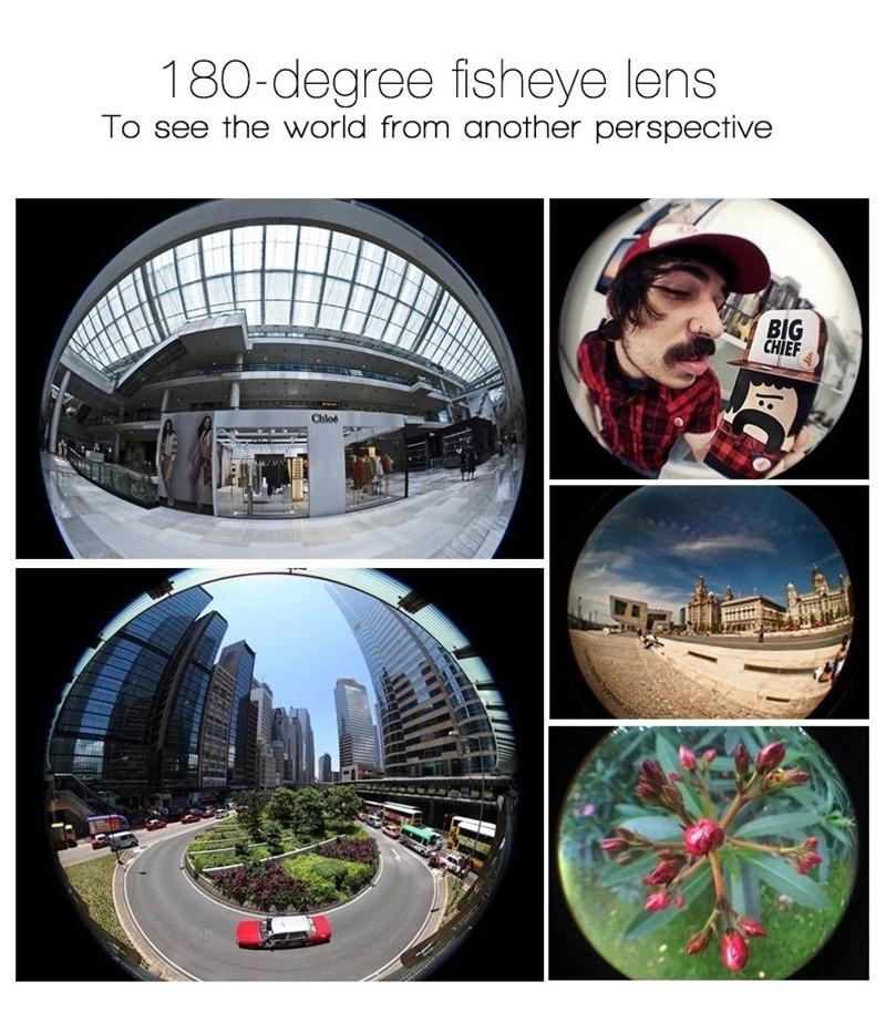 Fisheye Lens 3 in 1 mobile phone clip lenses fish eye wide angle macro camera lens for iphone 6s plus 5s/5 xiaomi huawei lenovo 5