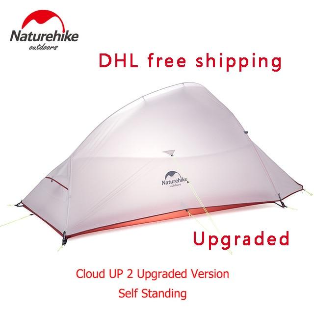 Naturehike Новая бесплатная самостоятельным 2 человек Сверхлегкий Открытый Палатка облако до 2 обновлен 20D силиконовые Ткань палатка