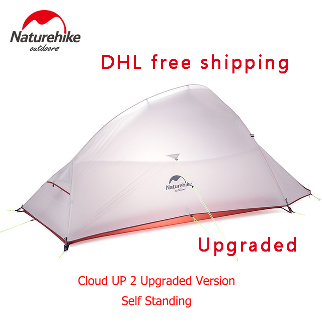 Naturehike New Free Self Standing 2 Person Ultralight outdoor Camping Tent Cloud UP 2 Updated 20D Silicone Fabric tent high quality outdoor 2 person camping tent double layer aluminum rod ultralight tent with snow skirt oneroad windsnow 2 plus