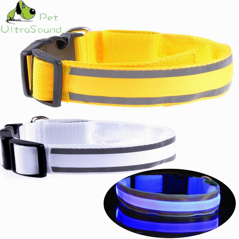 Fényvisszaverő kutya LED villogó gallér kisállat macska fényes nyakörvek izzó nyaklánc kültéri anti-elvesztett éjszakai biztonság kutya séta
