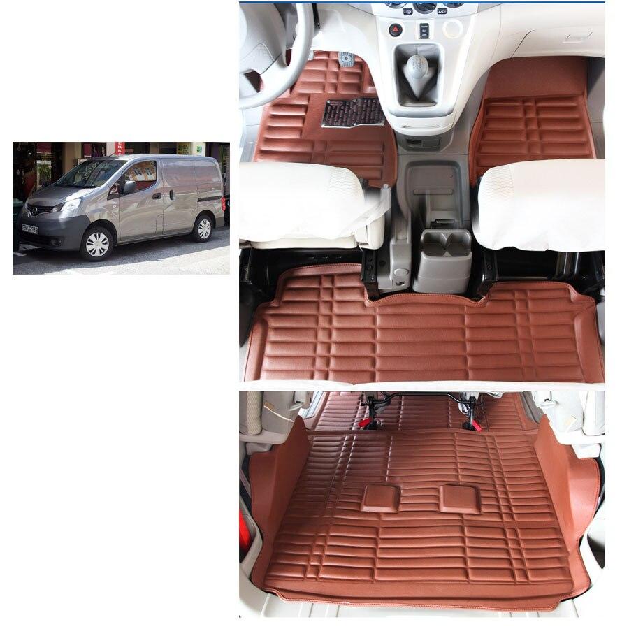 Экспресс доставка кожа автомобиль коврик для Nissan NV200 2010 2017 Chevrolet City express Nissan evalia Nissan NV200 Vanette