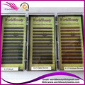 Free shipping 5 trays/lot wholesale gloden,black, dark brown ,medium brown,light brown,red brown eyebrow extension