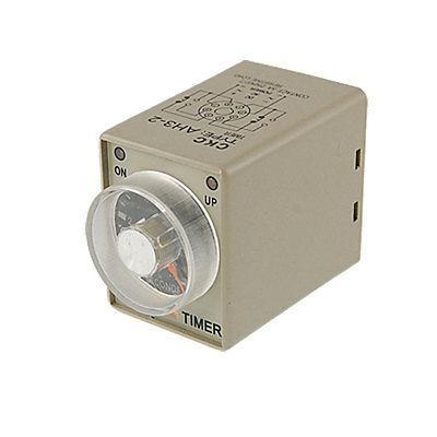 DC 24V 0-6 Seconds Power On Time Delay Relay Timer AH3-3
