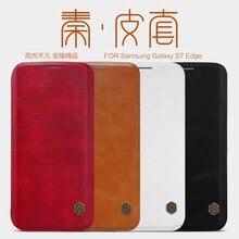 NILLKIN Подлинная кошелек кожаный чехол для Samsung Galaxy S7 край роскошный принципиально телефон мешки кожа случаях + Экран протекторы