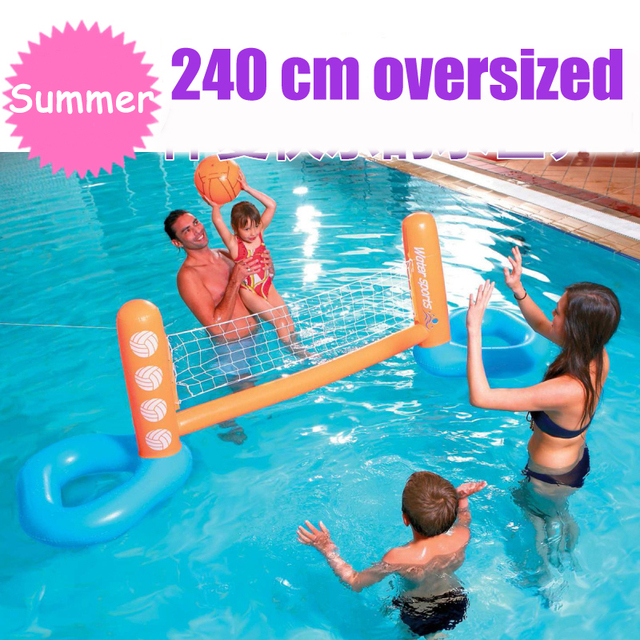 Giant Inflatable Pool Toy Volleyball Football Ball Game Swimming Game Toys  Air Mattresses Large Floating Island