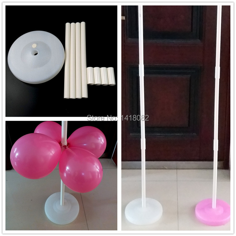 120 white pink Balloon column base stick plastic poles Balloon arch Wedding decorations Event party supplies Garden decorations in Ballons Accessories from Home Garden