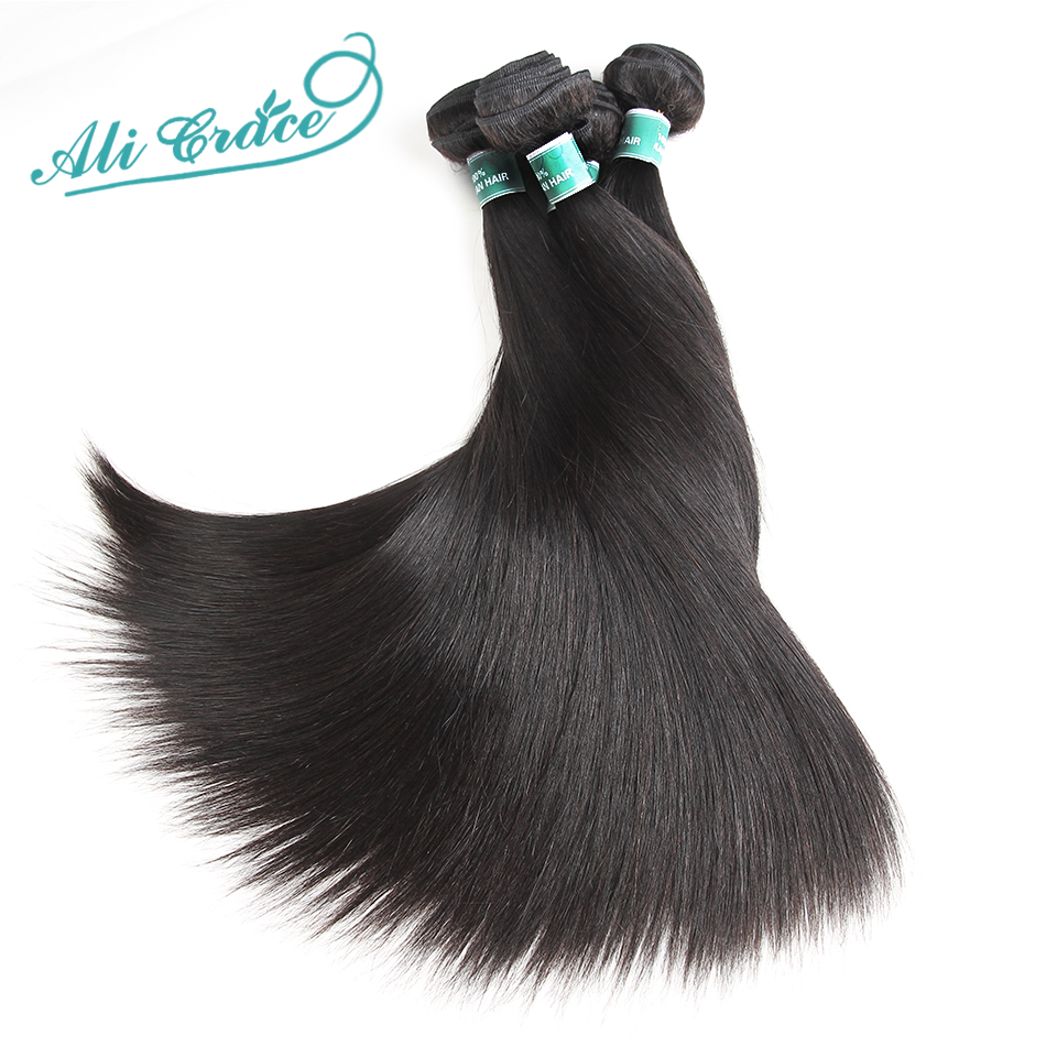 HTB1UCHUlHsTMeJjy1zbq6AhlVXaP Ali Grace Straight Hair Bundles With Frontal 13*4 Medium Brown Lace Color Remy Brazilian Human Hair Bundles With Frontal