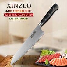 XINZUO 8 5 inch chef font b knife b font 3 layers 440C clad steel font