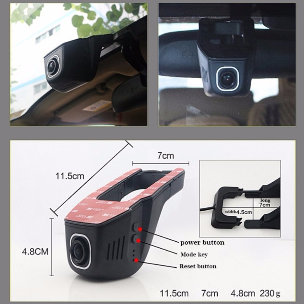 For Toyota Auris / Car Wifi DVR Mini Camera Driving Video Recorder Black Box / Novatek 96658 Registrator Dash Cam Night Vision for vw eos car driving video recorder dvr mini control app wifi camera black box registrator dash cam original style
