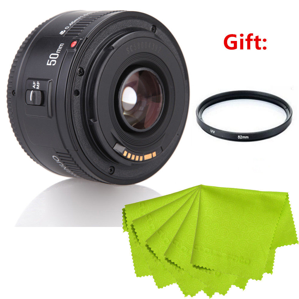 Aliexpress com : Buy Top Quality YONGNUO YN EF YN50mm/YN35mm AF Aperture  Auto Focus Camera Lens 1:1 8 Standard Prime Lens for Canon from Reliable