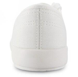Image 4 - キャンバスシューズ男性スニーカー夏の男のカジュアル男性の靴大人 sapato masculino ホワイトスニーカーレースレースアップコットン生地の靴