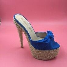Rutschen Frauen Schuhe 2016 Echt Bild Sommer Stil Schuhe Hohen Dünnen Fersen Nach Maß Plus US4-US15 Mode Schuhe Alias Zapatos