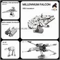 Wholesale Nano Puzzles Star Wars 3D metal model DIY Millennium Falcon/X-WING/ATAT Mini 5/10 PCS Gift to children Originality