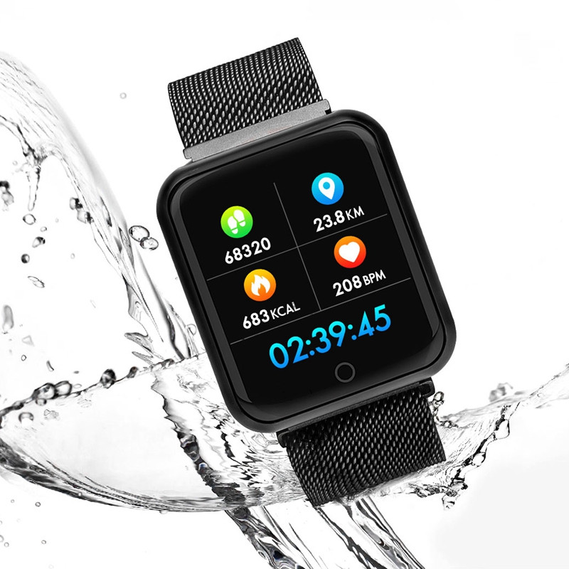 Image 5 - Smart Watch P68 Sports IP68 fitness bracelet activity tracker heart rate monitor blood pressure for ios Android apple iPhone 6 7-in Smart Watches from Consumer Electronics