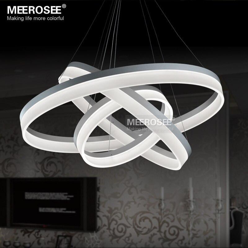 Multi Rings LED Pendant Light Modern LED ring Acrylic Suspension ...