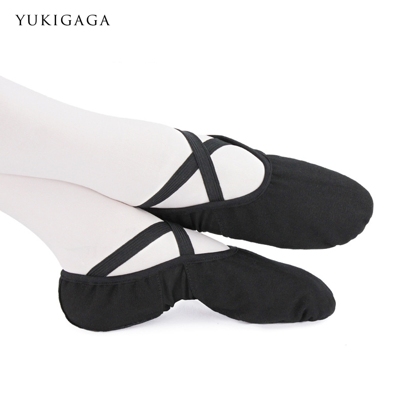 Dance Slippers Ballet-Shoes Childern Ballerina Split-Sole Girls Canvas for A02a2 Yukigaga
