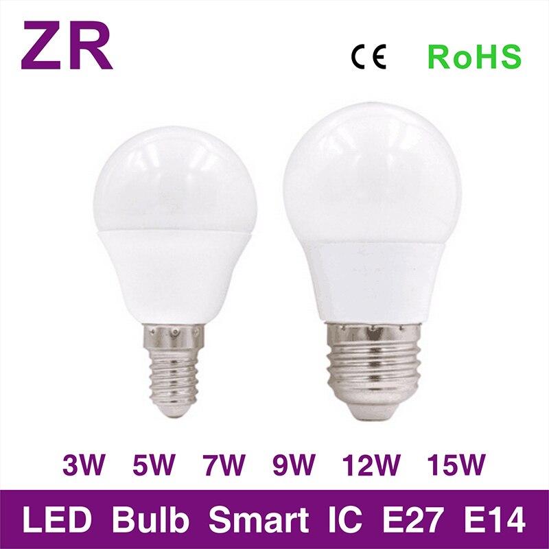 [MingBen] LED Bulb E27 E14 LED Lampada Ampoule Bombillas 3W 5W 7W 9W 12W 15W 220V240V LED Lamp SMD2835 Warm/Cold White LED Light цены онлайн