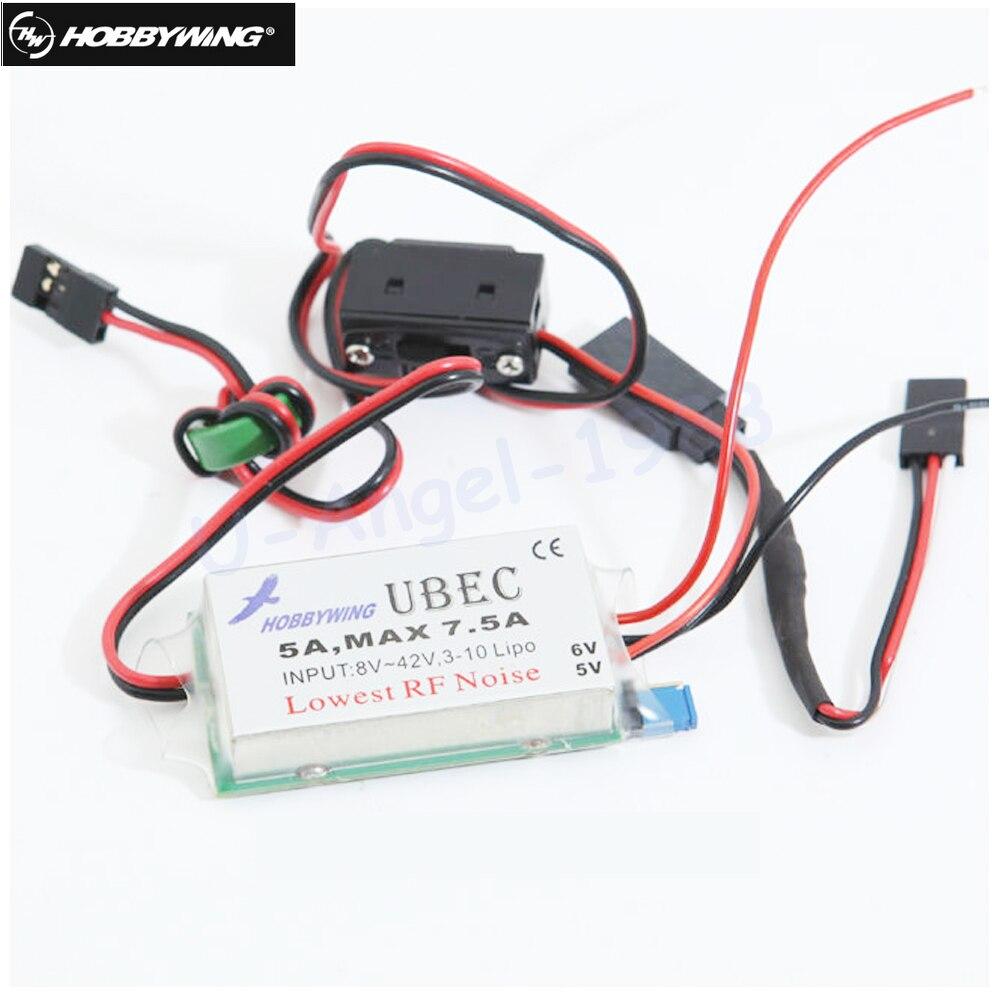 все цены на  1pcs Original Hobbywing UBEC 5A HV Switch-Mode UBEC High Voltage  онлайн