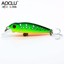 Купить с кэшбэком AOCLU new wobblers 40mm 2.1g Floating Hard Bait MINI Minnow Depth 0.5m fishing lure 5 colors tackle Quality NB147
