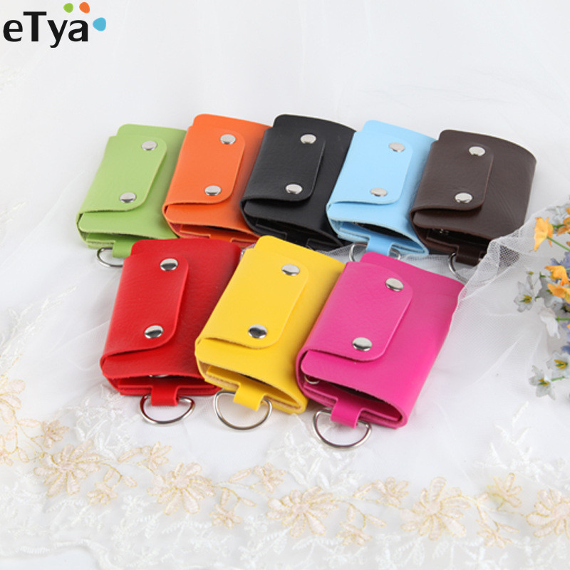 Fashion Small PU Leather Key Wallet Purse For Women Men Brand Key Buckle Wallet Cover  Organizer Case