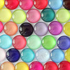 16mm Mixed Style Colorful Round Glass Cabochon Dome Jewelry Finding Cameo Pendant Settings 50pcs/lot (K02798)