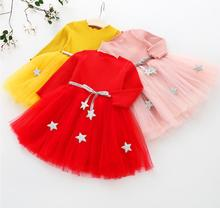 Baby Girl Dress Long Sleeve for 0 1 2 3 4 Year
