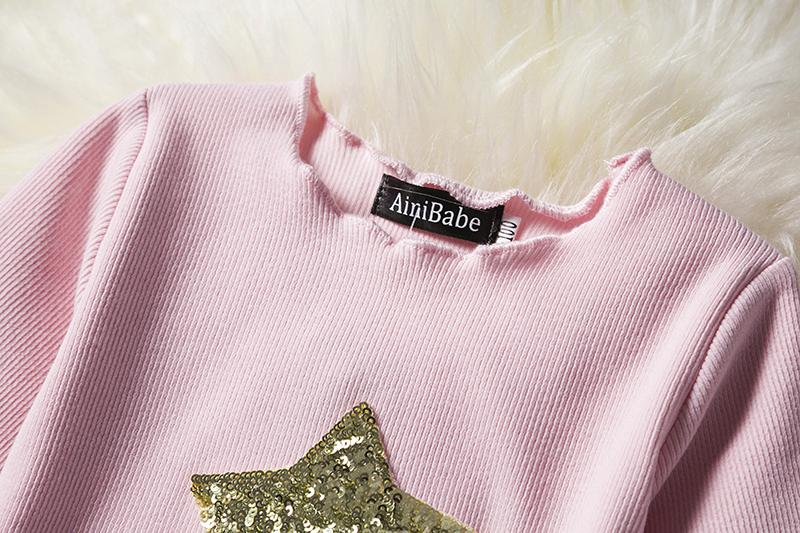 HTB1UCISaG67gK0jSZFHq6y9jVXaL Kids Long Sleeve Lace Drsses for Girls Party Dress Star Printed Birthday Tutu Dresses Children Casual Wear 3 6 8 Years Vestidos