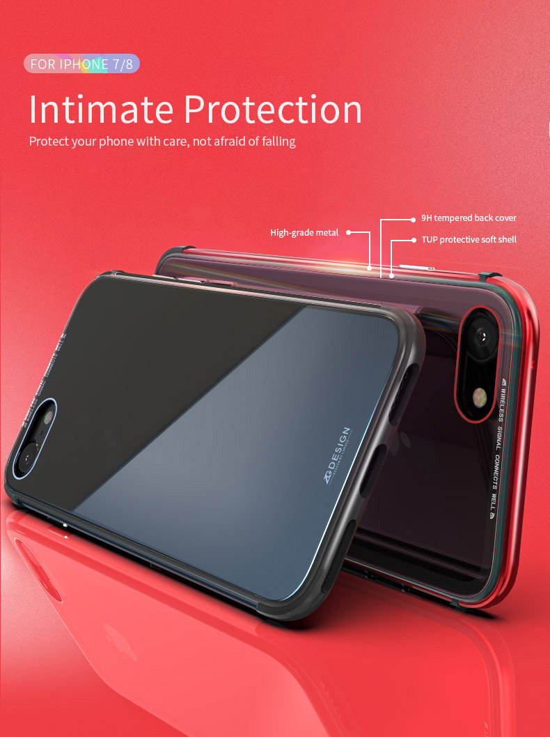LUPHIE Aurora Laser Case For iPhone X 7 8 Plus clear glass Case (2)