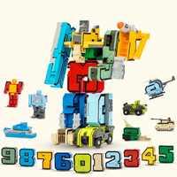 15 pièces Transformation Robot assemblage blocs de construction nombre déformation Robot figurine éducative jouets pour enfants cadeaux