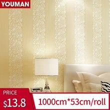 цены 2019 New Product Wallpaper Roll  3D Stereo Stripes Wallpaper Textured Wallpaper For Bedroom Living Room Restaurant Walls Decor