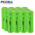 12 Pcs PKCELL Baterias Recarregáveis AA Ni-MH 1200 mAh 1.2 V NiMH Indústrias Bateria Baterias Bateria Para Flat Top