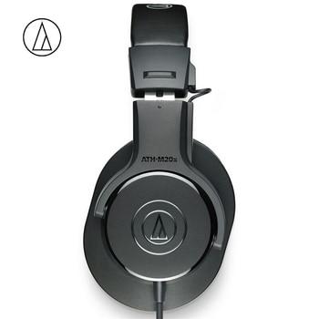 Auriculares originales de Audio Technica ATH-M20X con cable de Monitor profesional auricular sobre la oreja Cierre trasero dinámico bajo profundo 3,5mm