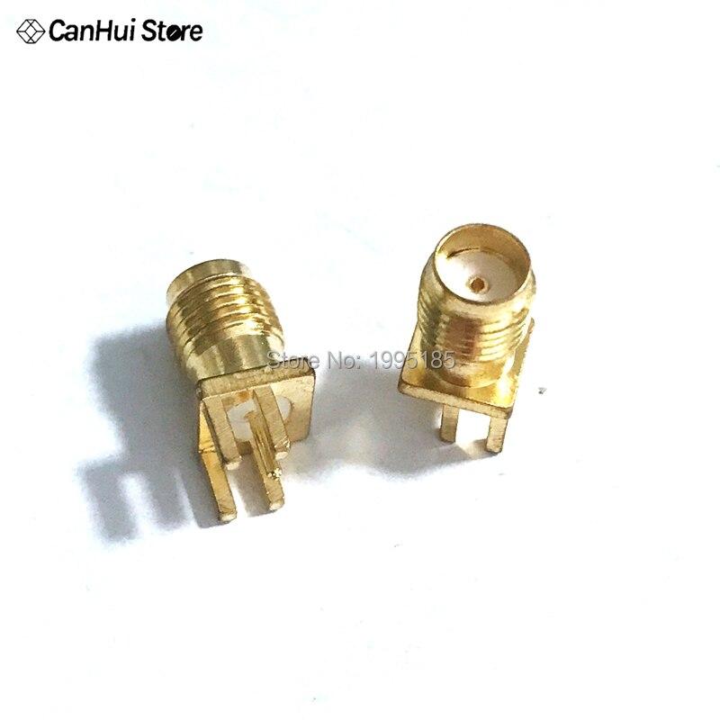 Connecteur RF à montage droit, Jack femelle SMA 1.6mm, 10 pièces, à bord espacé, pour soudure PCB, plaqué or, trou intérieur, Base femelle PCB