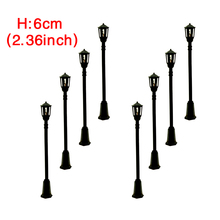 300pcs/lot Model Train Railway Architecture Street  Lights Lamp Lamppost HO 1:100 model ABS plastic street light