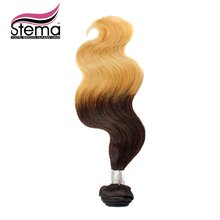 100% Free Weave 1pc Brazilian Virign Hair Ombre 1B #613 Body Wave Hair Extension Weave Body Wave Sample Order 1B #613 Ombre Hair