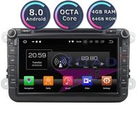 Roadlover Android 8.0 Car DVD Player For Volkswagen VW Passat CC Polo Golf Touareg T5 Caddy Beetle Tiguan Touran Stereo GPS Navi